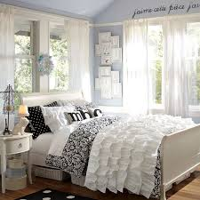 simple teenage bedroom ideas for girls. Admirable Bedroom Ideas For Teenage Girls With Black And White Bed Wooden Floor Decoration Simple R
