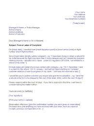Airline Template Complaint Letter