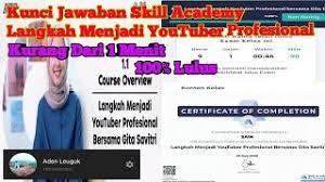 Channel yang sudah memiliki nama atau. Jawaban Skill Academy Prakerja Langkah Menjadi Youtuber