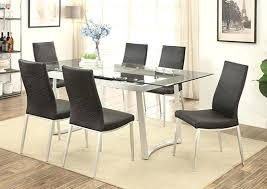 glass extension dining table glass extension dining table brisbane