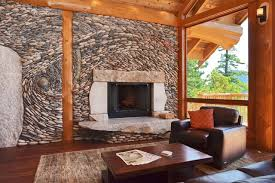 custom stone fireplaces. custom stone fireplace modern-living-room fireplaces .