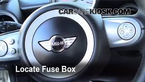 interior fuse box location 2008 2015 mini cooper 2009 mini interior fuse box location 2008 2015 mini cooper 2009 mini cooper clubman 1 6l 4 cyl