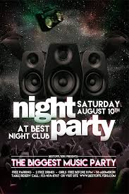 Part Flyer Party Night Free Poster And Flyer Template Download Free Flyer Designs