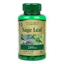natures garden sage leaf capsules 285mg