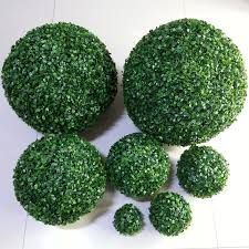 Decorative Grass Balls Artificial Green Leaves Grass Ball With Round Leaf For Creative 2