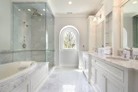 Simple White Master Bathrooms With Tile Design Ideas Photos On