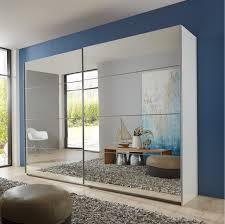 mirror wardrobe. slumberhaus \u0027eleganz\u0027 german made modern white \u0026 full mirror sliding door wardrobe mirror