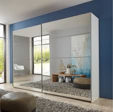 slumberhaus eleganz german made modern white full mirror sliding door wardrobe