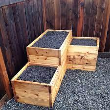 3 tiered corner raised garden bed