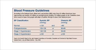 Blood Pressure Documentation Chart Blood Pressure Chart Template 13 Free Excel Pdf Word