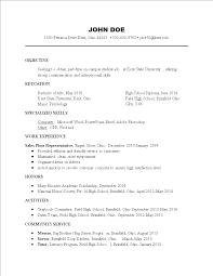 免费part Time Student Job Resume Format 样本文件在