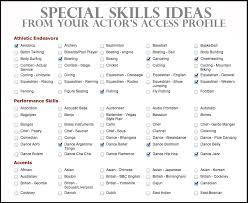 sample special skills