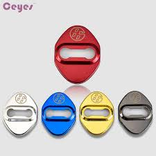 Online Badge Car Door Lock Cover For Toyota 86 Badge Black Blue Red Gold Stainless Steel Door Lock Protective Cover Car Styling Car Exterior Accessories List Car