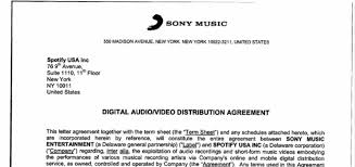 Music Contract Sony Music Issues Statement Following Spotify Contract Leak