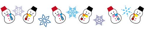 商用利用可能な冬のライン素材