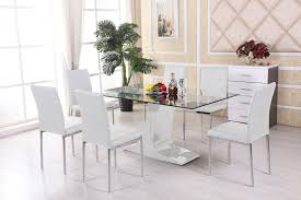 elegant glass dining table and chairs beautiful glass dining table set 6 chairs kitchen new and