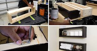 here s a diy that shows you how to create an inexpensive modern floating shelf with basic
