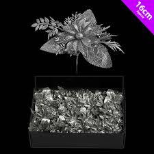 Details Zu 6 Weihnachts Silber Glitzer Weihnachtsstern Auswahl Dekoration Baum Kranz