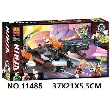 Đồ chơi lắp ráp Ninjago Season Phần 12 Rồng Đế Chế Unagami Lari 11485 Xếp  mô hình logo Ninja Digi Avatar Kai Lloyd