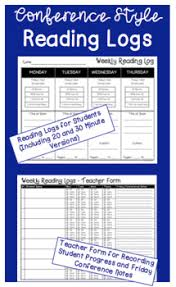 Teacher Record Conference Style Reading Logs With Teacher Record Form
