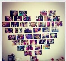 diy photo heart collage pictures in a shape of a heart on the wall picture heart