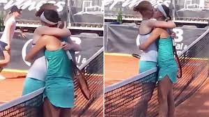 Tennis predictions from the bettingexpert community Tennis Alison Van Uytvanck And Greet Minnen Kiss After Match