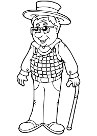 stylish page stylish grandfather coloring pages color luna