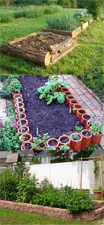building a raised bed garden. Tree Logs Can Provide Just The Right Height For A Raised Bed. Terracotta Pipes Become Little Pots And Walls Or Build This Chic Bed Building Garden