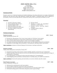 Example Of Accountant Resumes Property Accountant Resume Sample Template