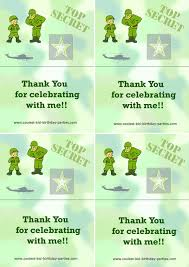 Printable Army Foldable Thank You Cards