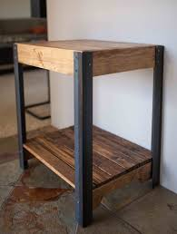 reclaimed wood furniture etsy. Pallet Wood Side Table With Metal Legs And Lower Shelf By Kensimms On Etsy Https: Reclaimed Furniture
