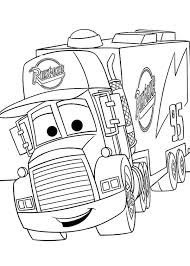 Small Picture Disney Cars Mack Coloring Pages Coloring Pages Disney Cars Mack