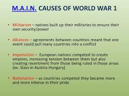 four main causes of world war essays assignment how to write  the causes of world war one essay by scarffreak