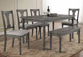 rustic dining table and chairs. Grey Rustic Dining Table Room Sets Home Design Ideas For Prepare 6 And Chairs