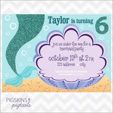 Free Little Mermaid Birthday Invitation Templates Awesome Mermaid Birthday Invitation Templates Pictures