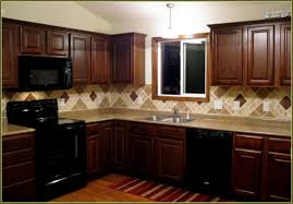 kitchen wall colors with cherry cabinets. Kitchen Wall Colors With Cherry Cabinets Brown Varnished Wood Cabinet Beige Granite Countertops Grenn H