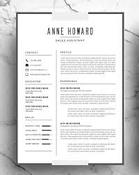 Modern Resume Template Instant Download Minimalist Creative Resume Interesting Minimalist Resume