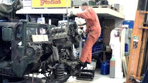 hmmvw humvee engine takeout