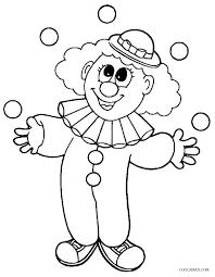 Funny Face Templates Clown Face Template Printable