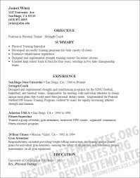 Fitness Trainer Resume Format Resume Template Easy Http Www