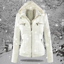2018 winter faux leather jacket women casual basic coats plus size las basic jackets waterproof windproof