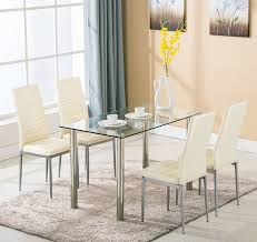 dining room glass table and chairs round grey set small dinner black metal aluminum outdoor steel folding ikea dinette sets covers protectors argos