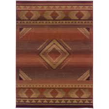 archer lane caden red indoor southwestern area rug common 6 x 9 actual southwestern area rugs o43