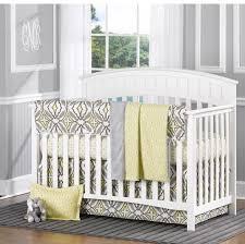 liz roo gray and yellow eden 4 piece baby bedding set