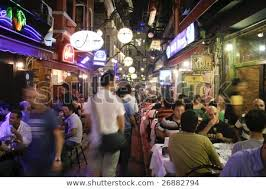 busy restaurant scene. Brilliant Scene ISTANBUL TURKEY  JULY 25  Busy Restaurant And Bar Scene At Night In  Taksim Inside Restaurant Scene O