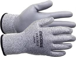 4works Hx1303 Pu Coated Cut Resistant Hppe Gloves Cut Level