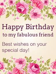 Birthday On Day Card Best Wishes On Your Special Day Happy Birthday Card For Friends