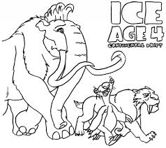 Small Picture Coloring Pages Ice Age 3 Coloring Home