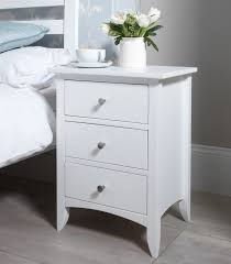 Surprising 3 Drawer Bedside Chest EDWARD HOPPER White Furniture Table Of  Drawers