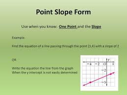 equations slope intercept form standard 3 point